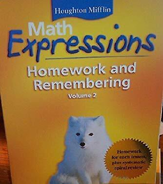 Math Expressions: Homework and Remembering Grade 4 (Volume (Math Expressions Grade 4 Homework And Remembering)
