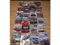 24 old EVO car magazines