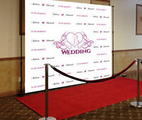 8' x 8' step and repeat backdrop banner- birthday-wedding-Events