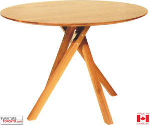 Solid birch mid-century dining table