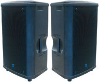 3x Yorkville NX55P powered monitors 12'' haut parleurs speakers