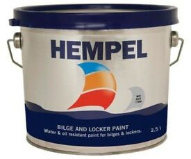 Hempel Bilge & Locker Paint 2.5 Litres Light Grey