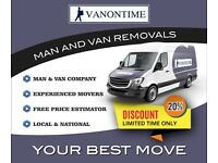 Moseley man & van hire fr 15 ph removal service self load multi option single room to entire home