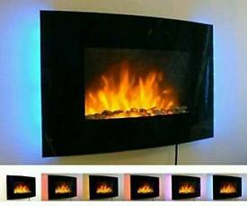 Wall hanging electric fire
