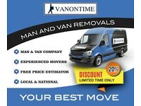 Cheap yet professional man and van long and short distance removals. Sameday work welcome. Call now