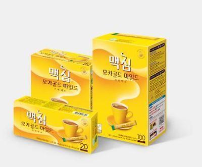 Korean Best Instant Coffee Mix Maxim Mocha Gold Mild 6/10/20/40/60/80/100