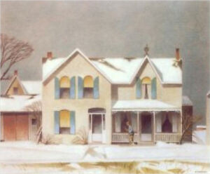 """Limited Edition """"First Snow"""" by A.J. Casson appraised at $3000"""