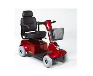 Electric scooter fortress 1700 DT red scooter 4 wheels  Descript