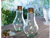 Set Of 2 Bulb Shaped Lamps
