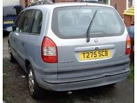 *(VAUXHALL ZAFIRA MOT POWER STEERING 1999 SILVER MANUAL 5 SPEED 7 SEATER BARGAIN PX WELCOME OLDHAM**