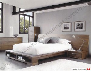 Modern QUEEN Size Bed Made in Canada