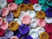 Fabric Flowers Lot