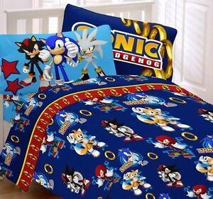 Sonic The Hedgehog Kids Twin Bed Sheet Twin Full Comforter
