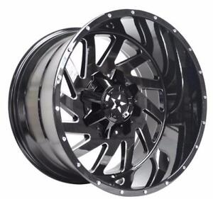 NEW!! 20x10 , 22x12, 22x14 AND 24x12 INCH AVAILABLE!! 5,6 AND 8 LUG DIFFERENT FINISHES AVAILABLE!