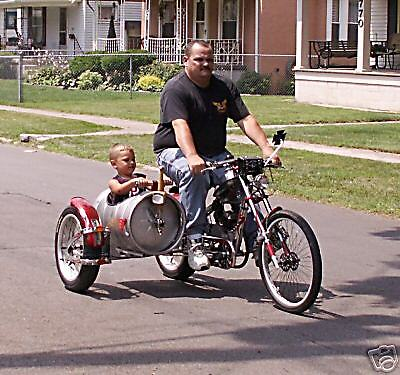 Schwinn OCC Chopper bicycle exhaust loud .