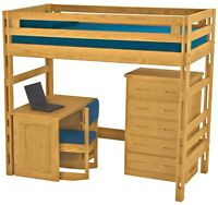Crate Designs Bunk Bed, Desk, Dresser Furniture