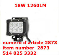 18W 1260LM CREE Led Work Light Bar Off-road SUV Boat 4x4 Jeep