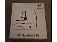 Logitech 850 Black PC Wired Headset Headphone for sale