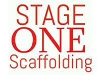 Stage one scaffolding
