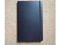 Black Castelli Paros Medium Ruled Notebook 130xx x 210mm