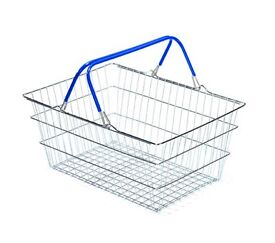 Shopping basket ideal for bicycle rack.