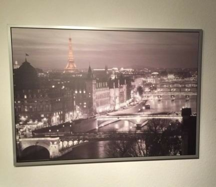 Paris Wall Art Picture Print Very Decorative Fully Framed Large 140 X  100cms Quick Sale £
