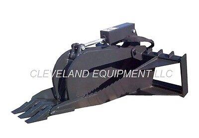 New 62 Xl Stump Grapple Bucket Attachment Skid Steer Loader Tree Root Ripper