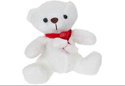 Job Lot Of 40 Christmas Teddy Bears White FREE POSTAGE