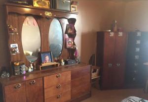 Vintage Hardwood Master Bedroom Set
