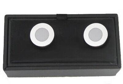 Überziehknöpfe button cover topper Knopfclip silbern hellgraugelackt MK0675 +B