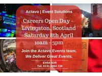 ACTAVO | EVENTS RECRUITMENT OPEN DAY, SATURDAY 08 APRIL - EVENT SITE CREW/ SCAFFOLDERS/ DRIVERS