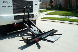CruiserLift for lifting motor cycles on back of Motor Home