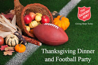 The Salvation Army Thanksgiving Dinner and Football Party