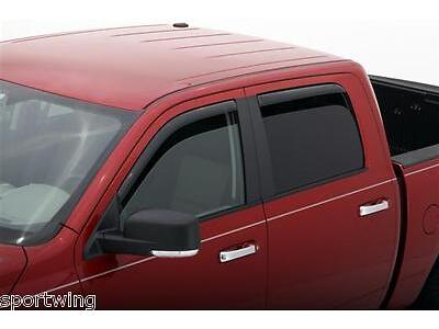 For: RAM 3500 CREW CAB; 194109 Window Vent Shades Visors IN CHANNEL 2010-2015
