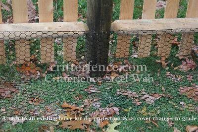 - Critterfence Black Steel Hexagrid Fence 5x150 Deer Garden Chicken Dog Coyote
