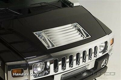2003-2009 Hummer H2 Chrome Hood Vent Handles Putco 401047 In Stock