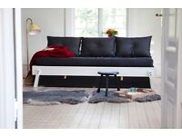 IKEA PS 2012 Daybed (sofa, converts to single/double bed) with under-bed drawers, mattress & pillows