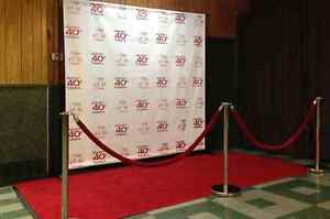 BACKDROP BANNER STEP AND REPEAT 8X8FT  CMYKVISUEL.CA