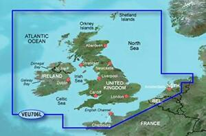 Garmin BlueChart .veu706l g2..Vision v.2014 UK & Ireland Scotland France map
