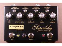 empress superdelay delay vintage + victoria + Chase tone fuzz + echorec + looper switcher