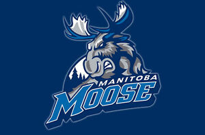 Manitoba Moose glass seats RIGHT NEXT to opponent to penalty box