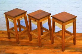 7 Available Kitchen School Stools Industrial Beech Chairs Vintage Restaurant Cafe Stacking Retro