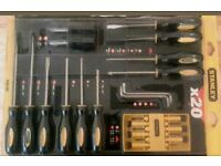 Stanley 60-220 20 Piece, Versatile Screwdriver Set, Color Coded Handle,