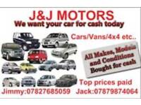 Cars. Vans wanted for cash
