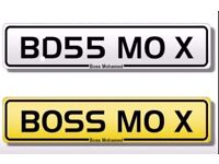 Private Number Plate - BOSS MO X - BD55 MO X - Boss Mohamed Mohammed Mohamad Muhammed Mo Muslim 786