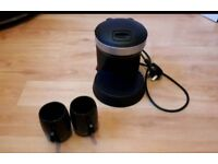 Electric double cup drip coffee machine