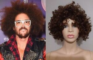 BRAND NEW: LMFAO DJ Redfoo Brown Afro Cosplay Wig