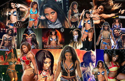 - EMBER MOON (WWE) Collage Poster