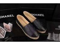 Chanel Espadrilles leather flat shoes 👠😛 ❤️
