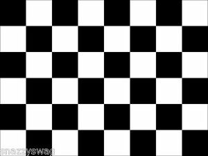 Car Racing Sports F1 Checkered Flag Black and White 5 ft x 3 ft NEW Great Price!